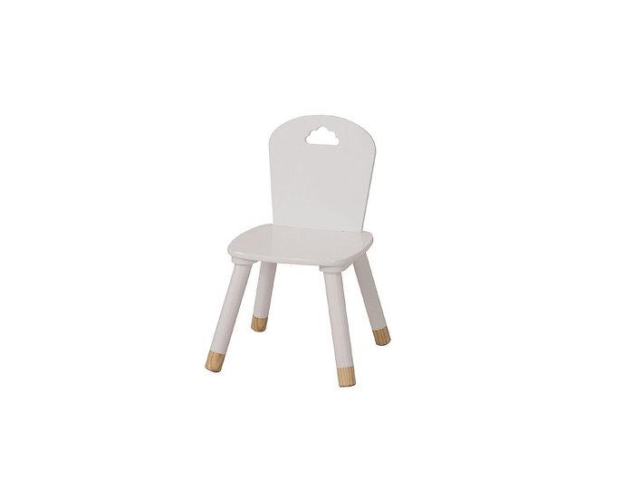 White wooden kids chair