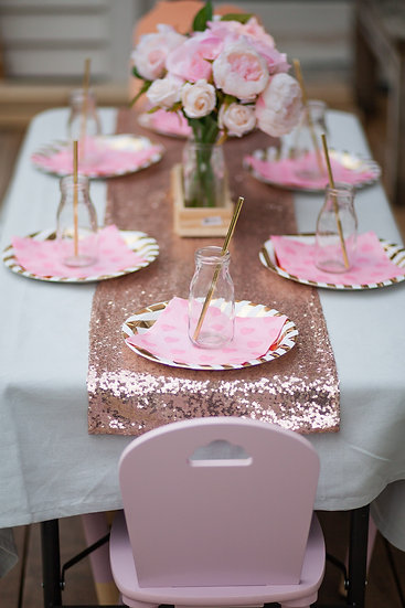 Pink & gold table package