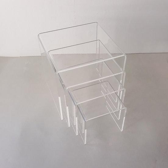 Acrylic riser set -square