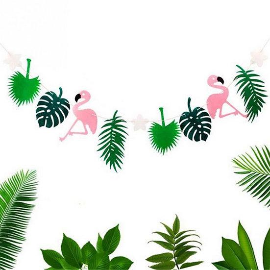Tropical flamingo garland