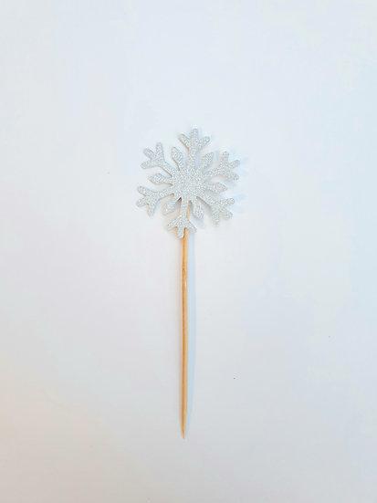 Silver snowflake topper