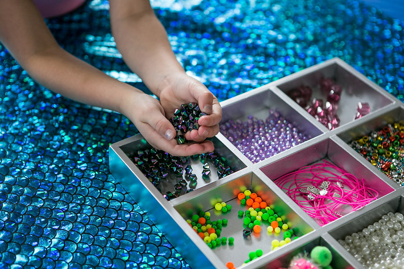 Silver bead tray