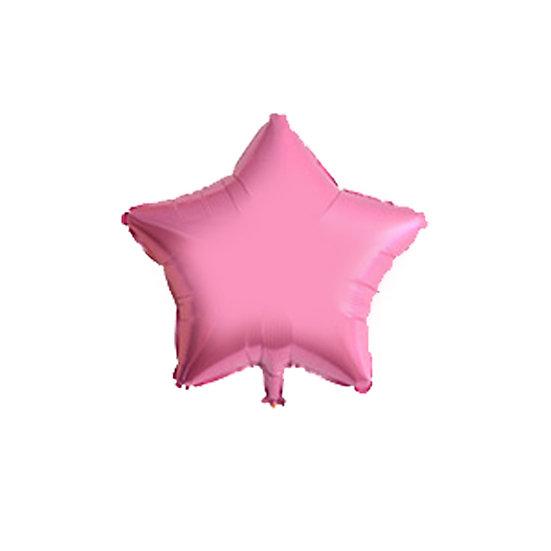 Pink star balloon