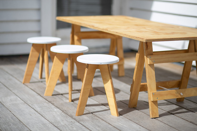Stools - white topped