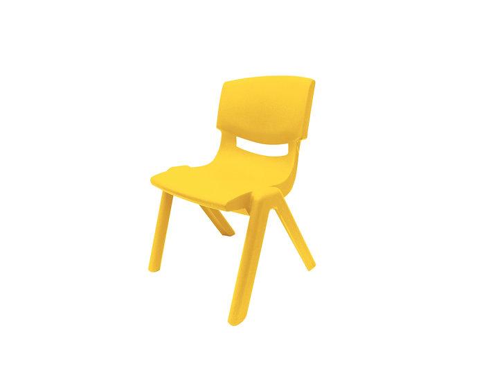 Yellow child's chair