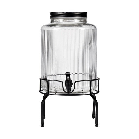 Drink dispenser single black base