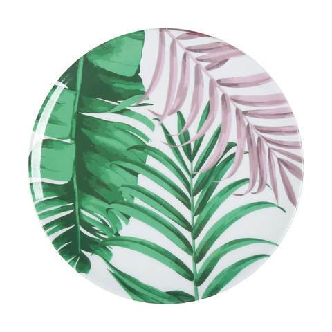 Tropical melamine plate