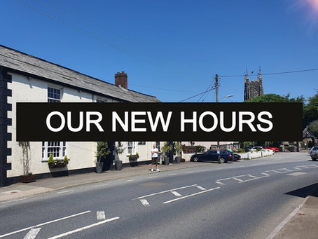 Our New Hours