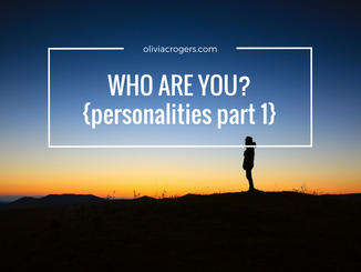 Who Are You? {Personalities, Part 1}