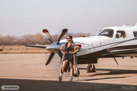 фотосессия с самолетом