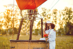 LoveStory в корзине воздушного шара