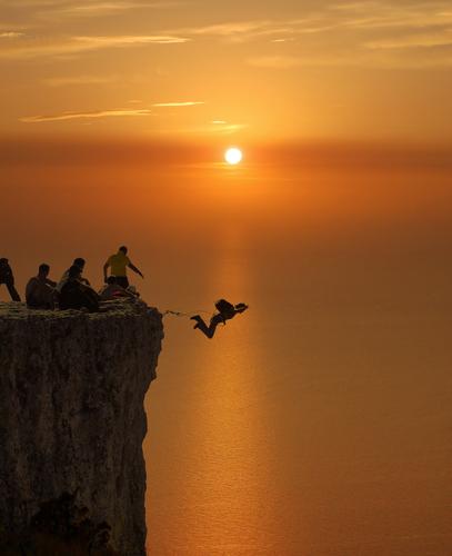 Прыжок со скалы 150м Качи-Кальон