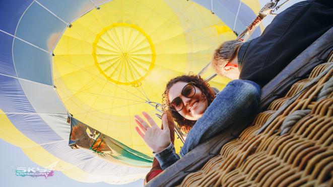 фото в корзине воздушного шара