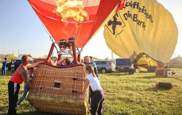 воздушный шар с корзиной фото