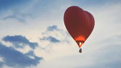 Полет на шаре в форме сердца Краснод