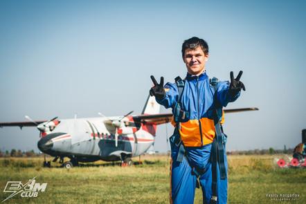 После прыжка с парашютом