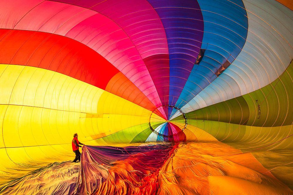 Внутри воздушного шара