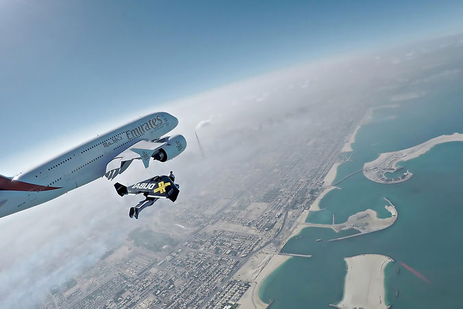 x dubai, jetman, fly emirates