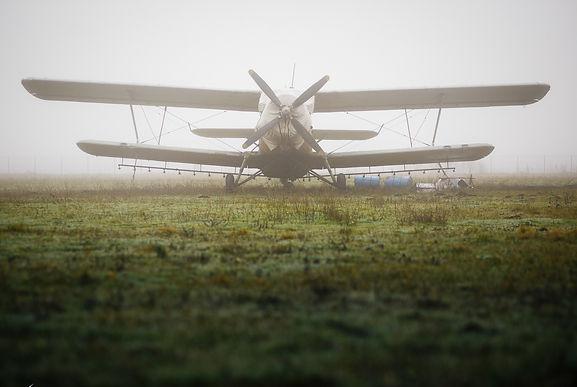 АН 2 в тумане, аэродром Краснодар