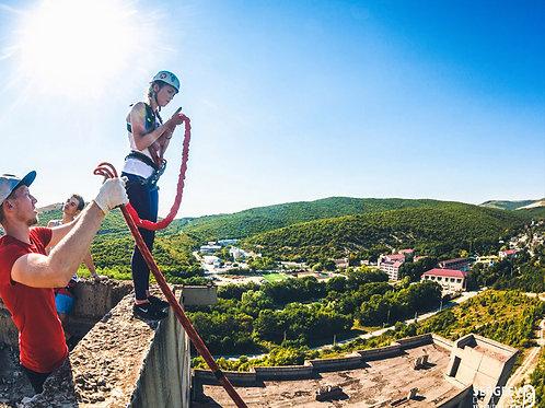 Прыжок с веревкой | Высота 40 метров | подарочный сертификат | роупджампинг