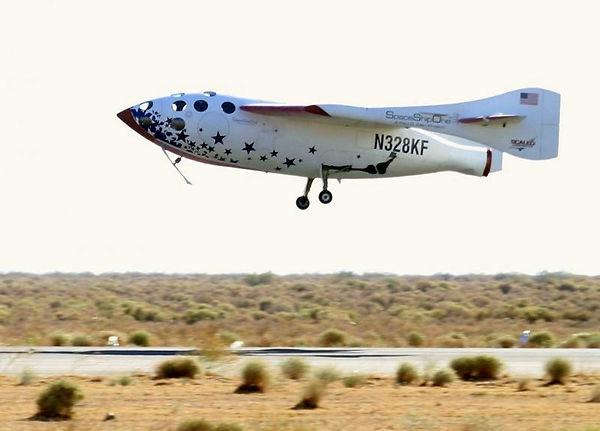 space ship one landing