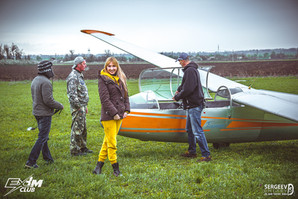 Перед полетом на планере аэродром Адагум, Краснодар