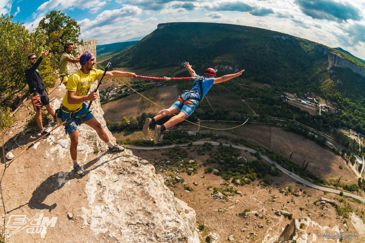Прыжки с веревкой Качи-Кальон Крым 4