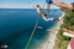 Прыжки с веревкой в Абхазии, Роупджампинг Абхазия, Автобусный тур из Краснодара в Абхазию, Прыжки лифт санаторий Москва в Абхазии