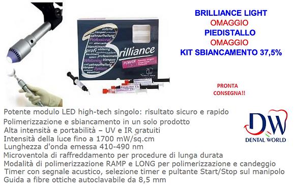 LAMPADA SBIANCANTE BRILLIANCE LIGHT PEN TYPE + KIT SBIANCAMENTO BRILLIANCE POWER