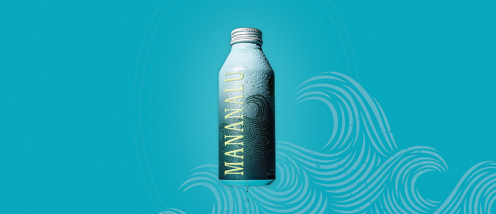 Pure drinking water in an aluminum can from Mananalu.