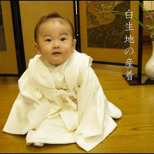 白生地の産着・袖なしセット(赤ちゃんに特別な何かをと思ったら)