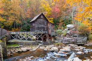 Glade Creek Grist Mill Perspective Angle