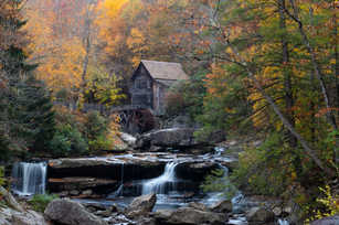 Glade Creek Grist Mill Perspective Front