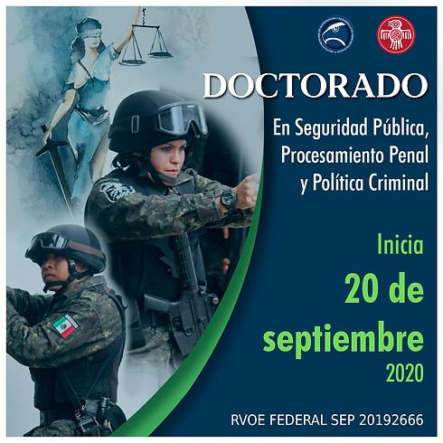 Doctorado en seguridad pública, procesamiento penal y política criminal