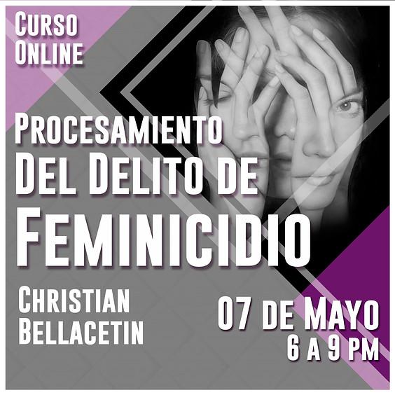 Procesamiento del delito de feminicidio