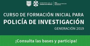 Curso de Formación Inicial para POLICIA DE INVESTIGACION CDMX