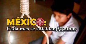 Inegi: en el país cada mes se registran más de 50 suicidios infantiles