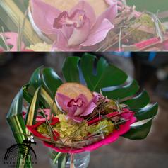 Demi-coeur en feutrine par Fleuriste Avant-Garde