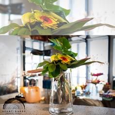 Bouquet Gerbera, Oignons et Piment vert par Fleuriste Avant-Garde