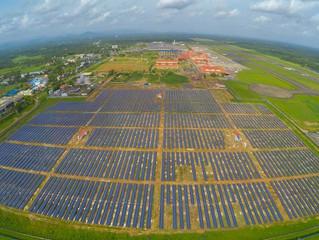 Aeroporto indiano funciona 100% movido a energia solar