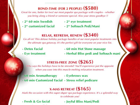 Holiday Spa Packages & Specials