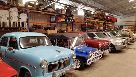 Just some of the cars on display