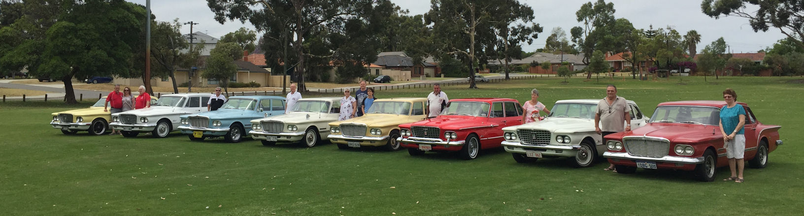 Club Members next their cars