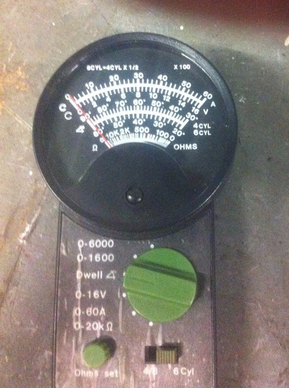 Typical Cam Dwell Meter - Note the 6 Cylinder Scale