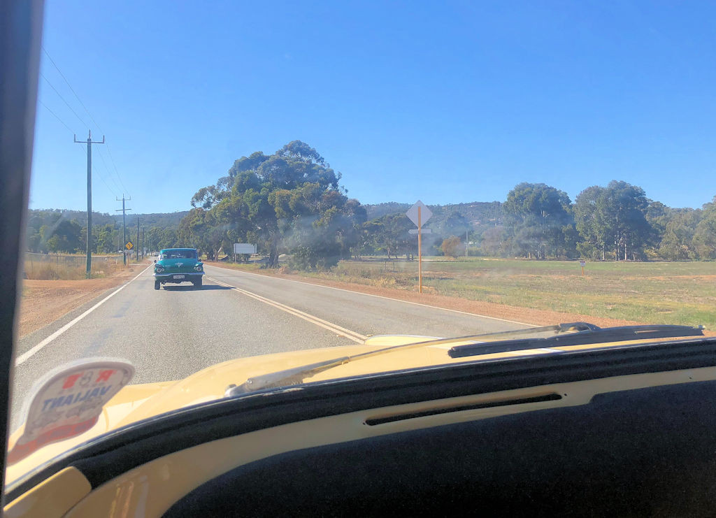 In convoy driving to the Parkerville!