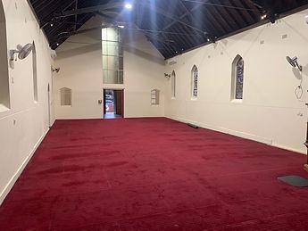 Inside St Matthew's church Bondi
