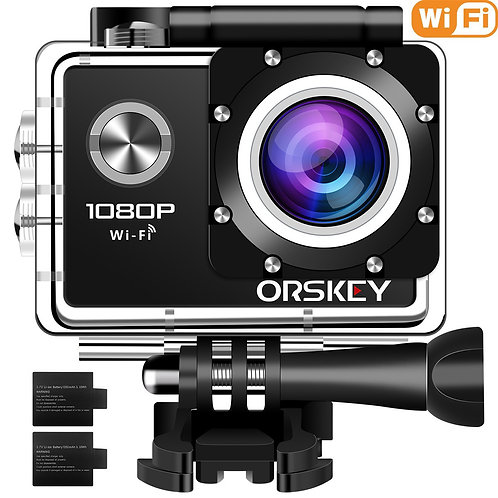 """ORSKEY 1080p Dash Cam 3.0"""" LCD with Full HD 170° Wide Angle Lens"""