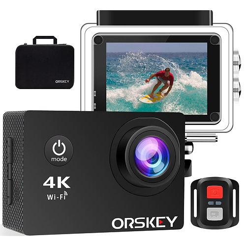 ORSKEY Action Camera 4K 16MP WIFI Underwater Cam Ultra HD Waterproof