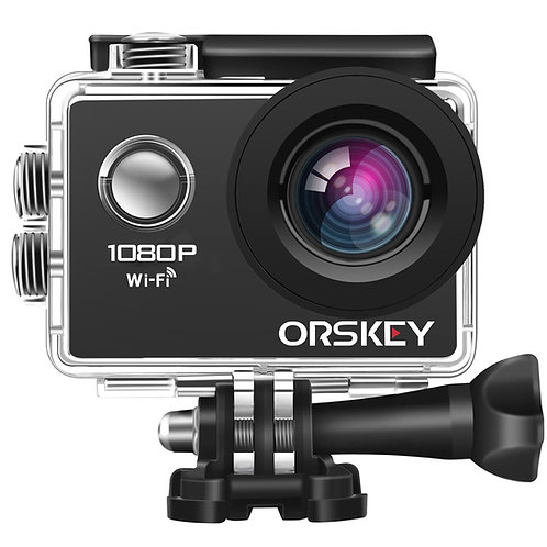 【Upgraded】ORSKEY Action Camera 1080P WiFi Full HD Waterproof Sport Cam 12MP
