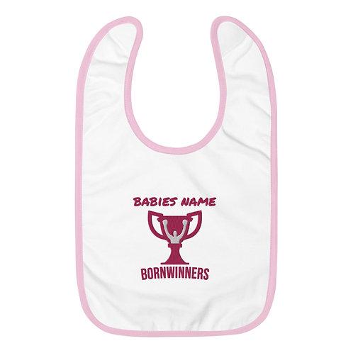 BORNWINNERS baby bib pink